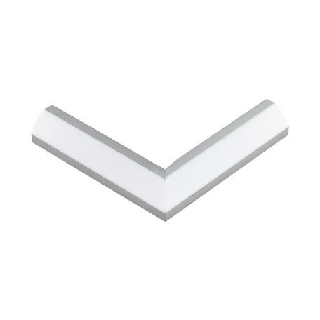 Угловой профиль для светодиодной ленты с рассеивателем Eglo Corner Profile 2 98957, алюминий, белый, металл, пластик
