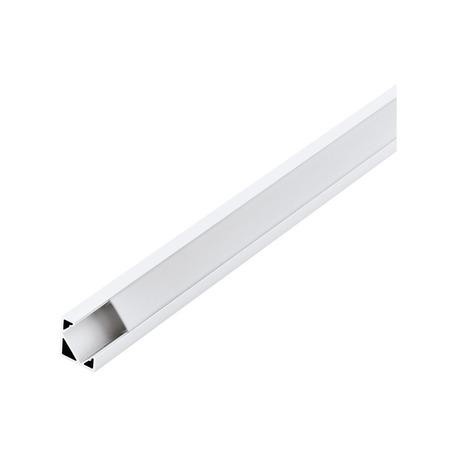 Угловой профиль для светодиодной ленты с рассеивателем Eglo Corner Profile 2 98958, белый, металл, пластик