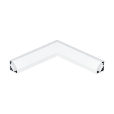 Угловой профиль для светодиодной ленты с рассеивателем Eglo Corner Profile 2 98961, белый, металл, пластик