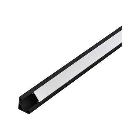 Угловой профиль для светодиодной ленты с рассеивателем Eglo Corner Profile 2 98963, черный, белый, металл, пластик
