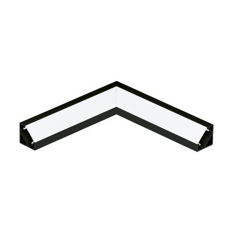 Угловой профиль для светодиодной ленты с рассеивателем Eglo Corner Profile 2 98965, черный, белый, металл, пластик