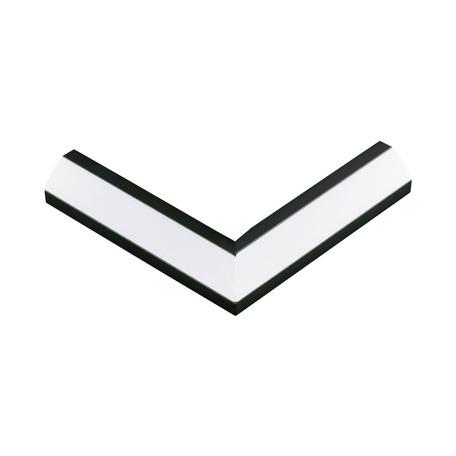 Угловой профиль для светодиодной ленты с рассеивателем Eglo Corner Profile 2 98966, черный, белый, металл, пластик