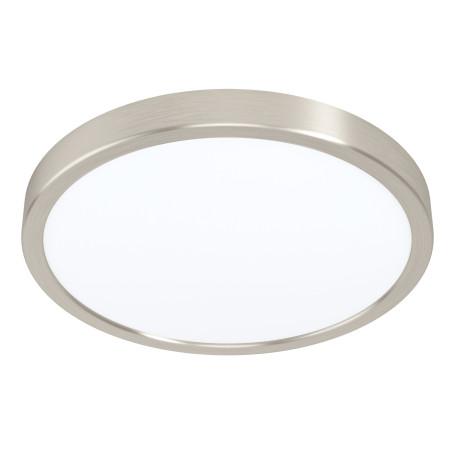 Светодиодный светильник Eglo Fueva 5 99221, LED 20W 3000K 300lm, никель с белым, металл с пластиком, пластик с металлом