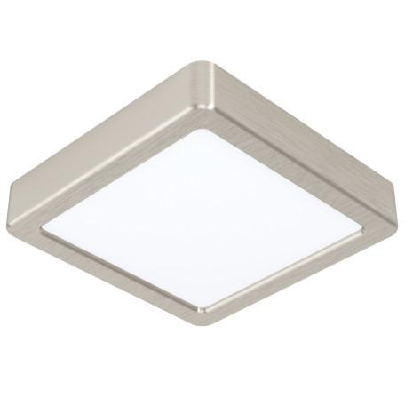 Светодиодный светильник Eglo Fueva 5 99239, LED 10,5W 3000K 1200lm, никель с белым, металл с пластиком, пластик с металлом