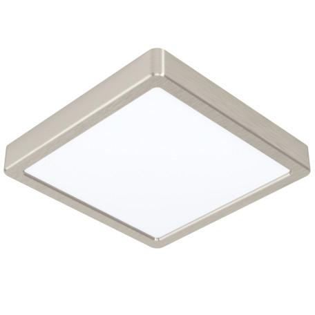 Светодиодный светильник Eglo Fueva 5 99241, LED 16,5W 3000K 1800lm, никель с белым, металл с пластиком, пластик с металлом