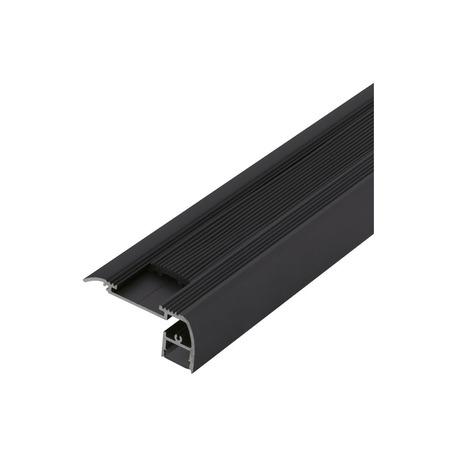 Профиль для светодиодной ленты с рассеивателем для лестниц Eglo Surface Profile 5 98997, черный, металл, пластик