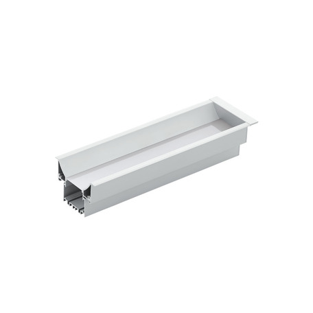 Профиль для светодиодной ленты с рассеивателем для лестниц Eglo Recessed Profile 3 98999, алюминий, белый, металл, пластик