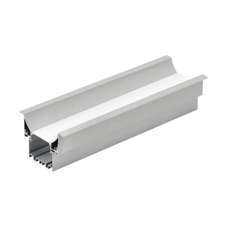 Профиль для светодиодной ленты с рассеивателем для лестниц Eglo Recessed Profile 3 99001, алюминий, белый, металл, пластик