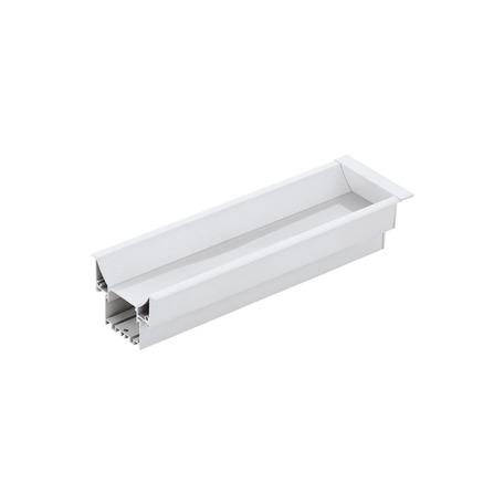 Профиль для светодиодной ленты с рассеивателем для лестниц Eglo Recessed Profile 3 99002, белый, металл, пластик
