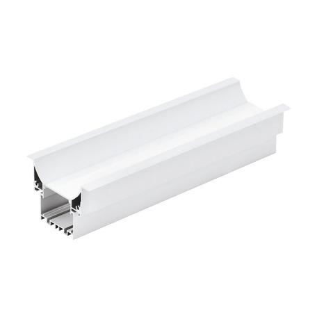 Профиль для светодиодной ленты с рассеивателем для лестниц Eglo Recessed Profile 3 99003, белый, металл, пластик