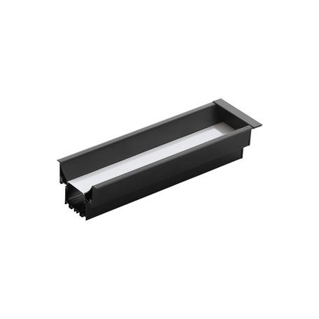 Профиль для светодиодной ленты с рассеивателем для лестниц Eglo Recessed Profile 3 99004, черный, белый, металл, пластик