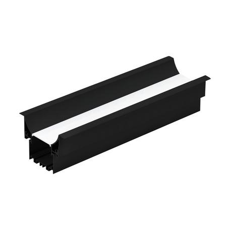 Профиль для светодиодной ленты с рассеивателем для лестниц Eglo Recessed Profile 3 99005, черный, белый, металл, пластик