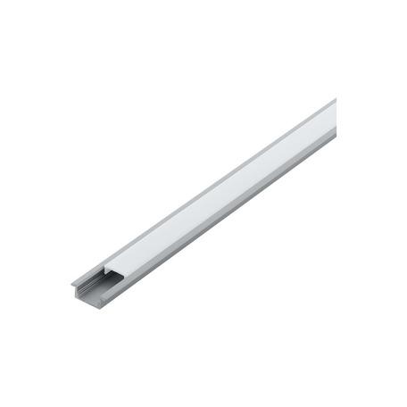 Профиль для светодиодной ленты с рассеивателем Eglo Recessed Profile 1 98978, алюминий, белый, металл, пластик