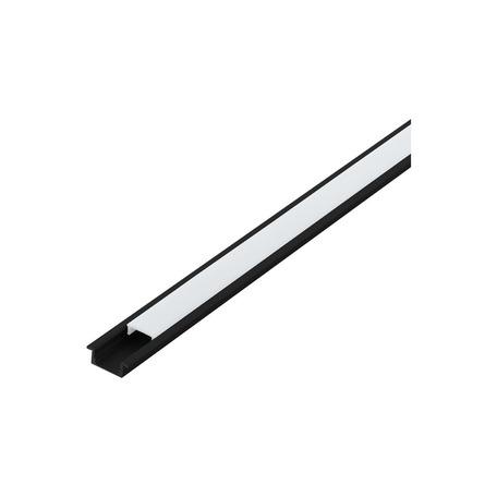 Профиль для светодиодной ленты с рассеивателем Eglo Recessed Profile 1 98985, черный, белый, металл, пластик