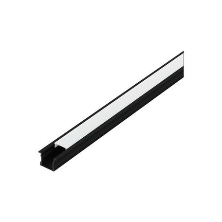 Профиль для светодиодной ленты с рассеивателем Eglo Recessed Profile 2 98994, черный, белый, металл, пластик