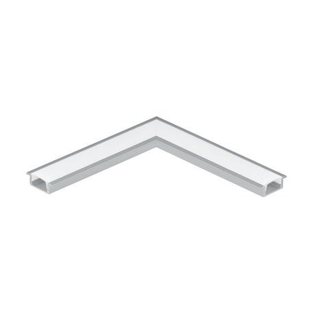 Угловой профиль для светодиодной ленты с рассеивателем Eglo Recessed Profile 1 98979, алюминий, белый, металл, пластик