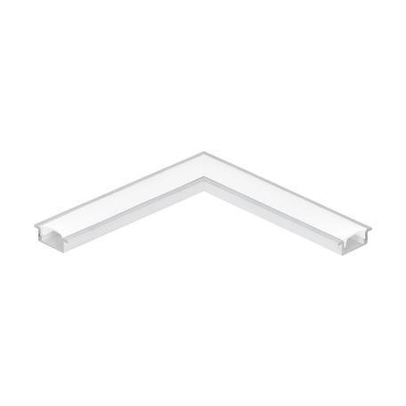 Угловой профиль для светодиодной ленты с рассеивателем Eglo Recessed Profile 1 98983, белый, металл, пластик