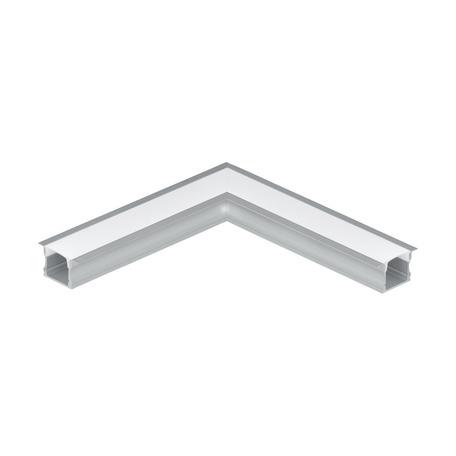 Угловой профиль для светодиодной ленты с рассеивателем Eglo Recessed Profile 2 98989, алюминий, белый, металл, пластик