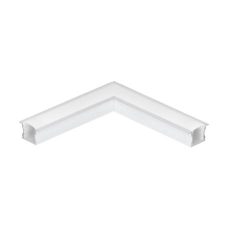Угловой профиль для светодиодной ленты с рассеивателем Eglo Recessed Profile 2 98993, алюминий, белый, металл, пластик