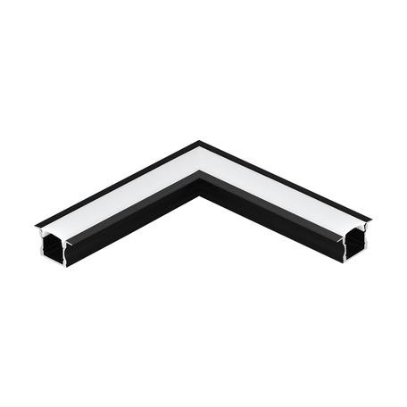 Угловой профиль для светодиодной ленты с рассеивателем Eglo Recessed Profile 2 98996, черный, белый, металл, пластик