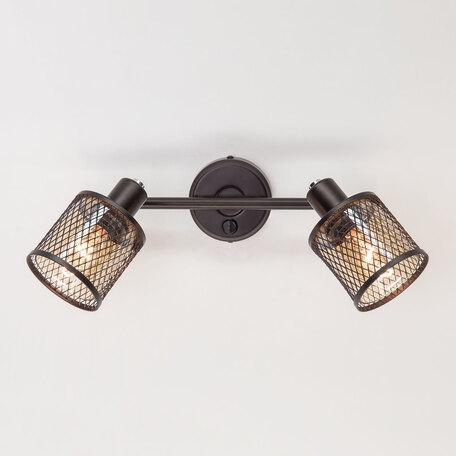 Светильник Citilux Робин CL535625, 2xE14x40W, венге, венге с прозрачным, металл, металл со стеклом