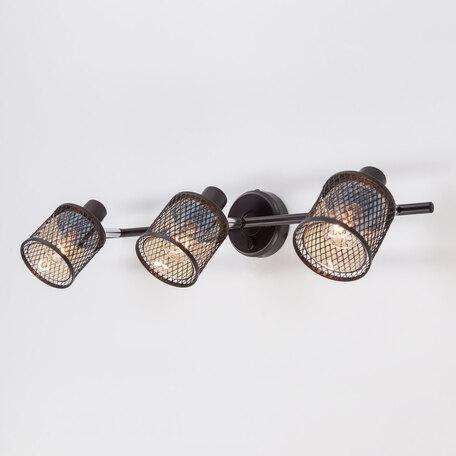 Светильник Citilux Робин CL535635, 3xE14x40W, венге, венге с прозрачным, металл, металл со стеклом