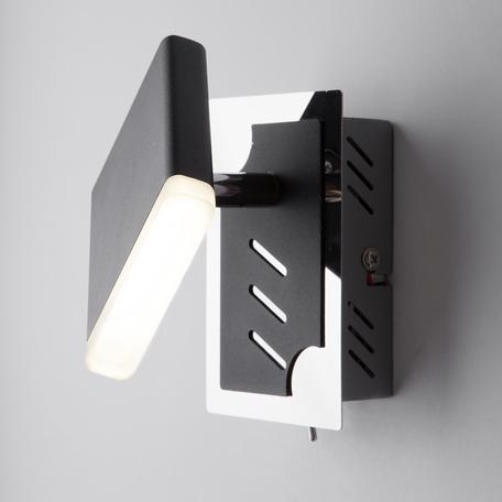 Настенный светодиодный светильник с регулировкой направления света Eurosvet Collin 20000/1 черный 5W, LED 5W 4200K 250lm, черный, металл
