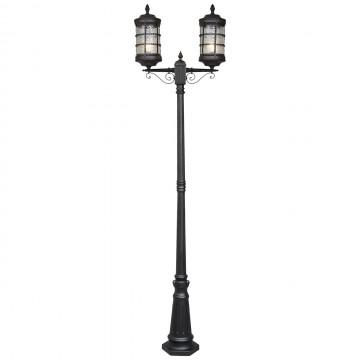 Уличный фонарь De Markt Донато 810040602, IP23, 2xE27x95W, черный, матовый, металл, стекло