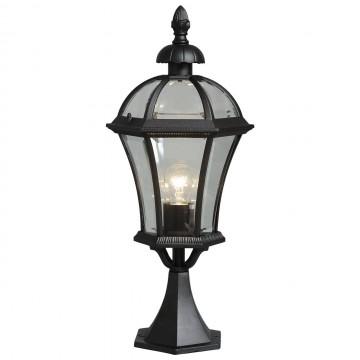 Садово-парковый светильник De Markt Сандра 811040201, IP23, черный, прозрачный, металл, стекло