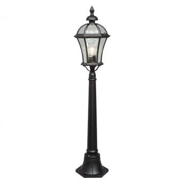 Уличный фонарь De Markt Сандра 811040501, IP23, черный, прозрачный, металл, стекло