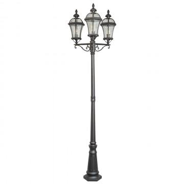 Уличный фонарь De Markt Сандра 811040703, IP23, черный, прозрачный, металл, стекло