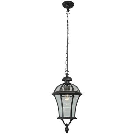 Подвесной светильник De Markt Сандра 811010301, IP23, 1, черный, прозрачный, металл, металл со стеклом