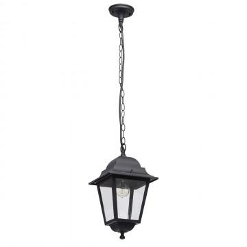 Подвесной светильник De Markt Глазго 815011001, IP44, 1xE27x95W, черный, прозрачный, металл, стекло