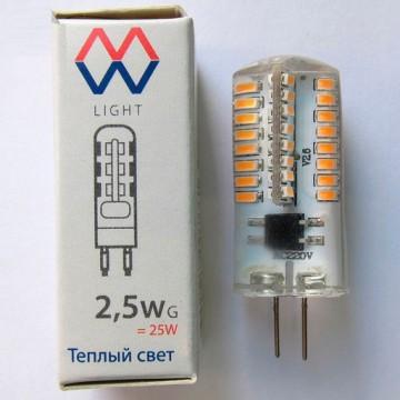 Светодиодная лампа MW-Light LBMW0403 капсульная G4 2,5W, 2700K (теплый) 220-240V
