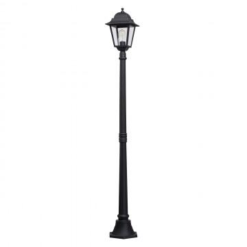 Уличный фонарь De Markt Глазго 815041101, IP44, черный, прозрачный, металл, стекло