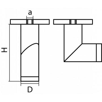 Схема с размерами Lightstar 051019R