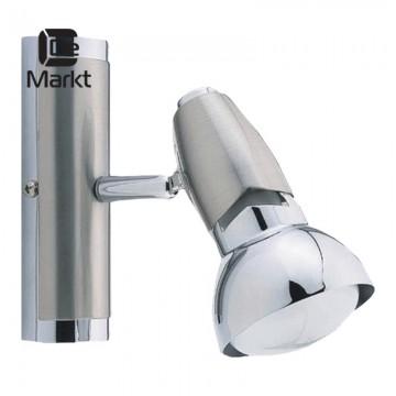 Настенный светильник с регулировкой направления света De Markt Алгол 506020101, никель, хром, металл