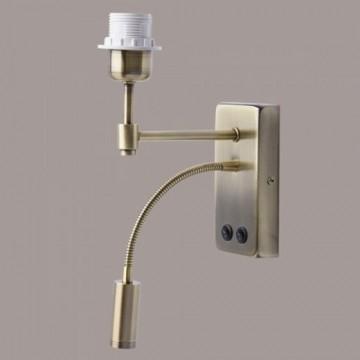 Основание бра с дополнительной подсветкой MW-Light Сити 634021602, 1xE27x60W + LED 3200K, бронза, металл