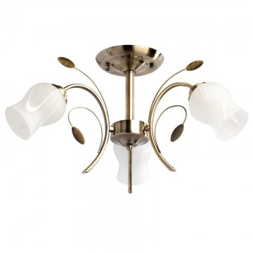 Потолочная люстра MW-Light Флора 256018103, бронза, металл, стекло