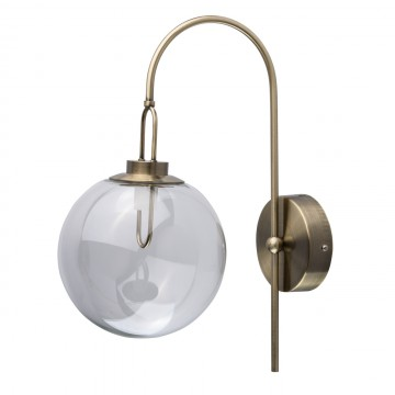 Светодиодное бра De Markt Крайс 657021501, LED 5W 3000K 325lm, бронза, прозрачный, металл, стекло