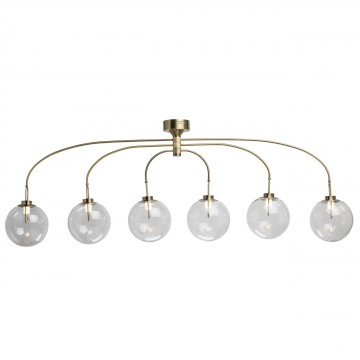 Потолочная светодиодная люстра De Markt Крайс 657011606, LED 30W 3000K (теплый) 1950lm, бронза, прозрачный, металл, стекло
