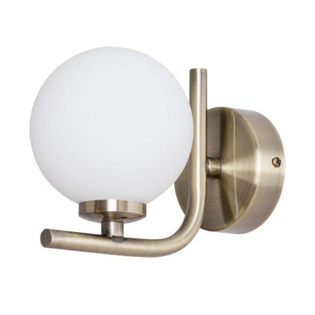 Бра Arte Lamp Bolla-Piccolo A3988AP-1AB, 1xG9x25W, бронза, белый, металл, стекло