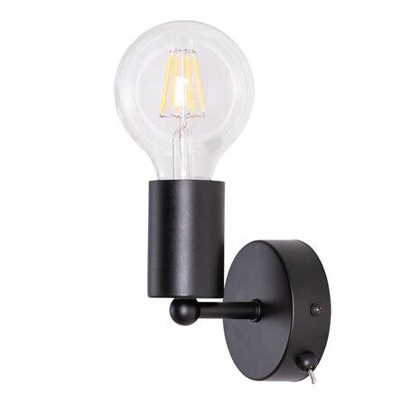 Бра Arte Lamp Fuori A9184AP-1BK, 1xE27x60W, черный, металл
