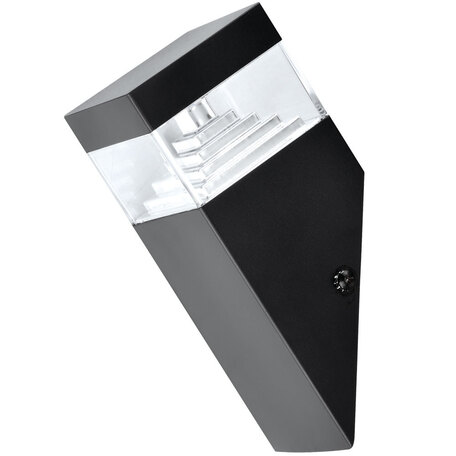 Настенный светодиодный светильник Arte Lamp Shalby A2218AL-1BK, IP44, LED 7W 4000K 400lm CRI≥80, черный, прозрачный, металл, пластик