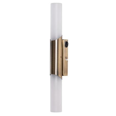 Настенный светильник Arte Lamp Aqua-Bastone A2470AP-2AB, IP44, 2xE14x40W, бронза, белый, металл, стекло