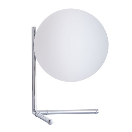 Настольная лампа Arte Lamp Bolla-Unica A1921LT-1CC, 1xE27x40W, хром, белый, металл, стекло