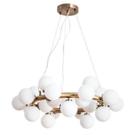 Подвесная люстра Arte Lamp Bolla-Piccolo A3988SP-25AB, 25xG9x25W, бронза, белый, металл, стекло