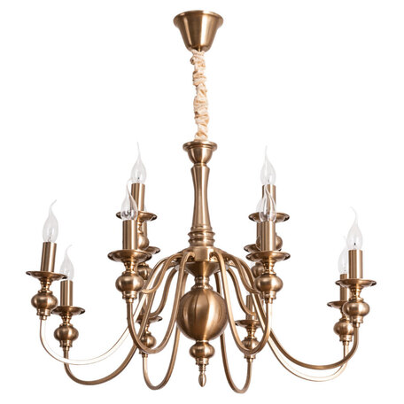 Подвесная люстра Arte Lamp Passoni A6097LM-12PB, 12xE14x40W, матовое золото, металл
