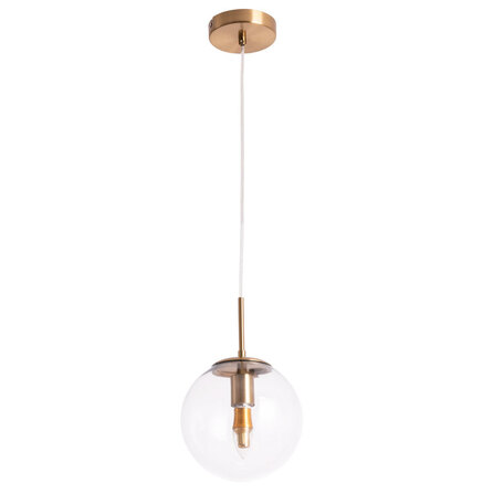 Подвесной светильник Arte Lamp Volare A1920SP-1AB, 1xE27x60W, бронза, прозрачный, металл, стекло