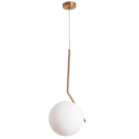 Подвесной светильник Arte Lamp Bolla-Unica A1922SP-1AB, 1xE27x40W, бронза, белый, металл, стекло